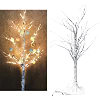LEDMOMO LED Tree Lamp 60 LEDs Birch Tree Lights Decorative Night Light LED Flexible Tree for Christmas USB Charging (Warm White)