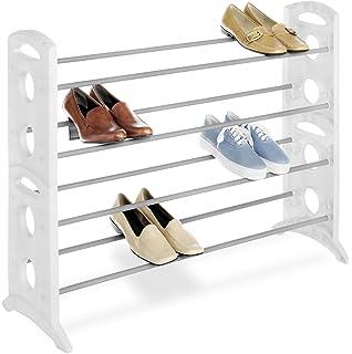 Whitmor Floor Shoe Stand 20 Pair White