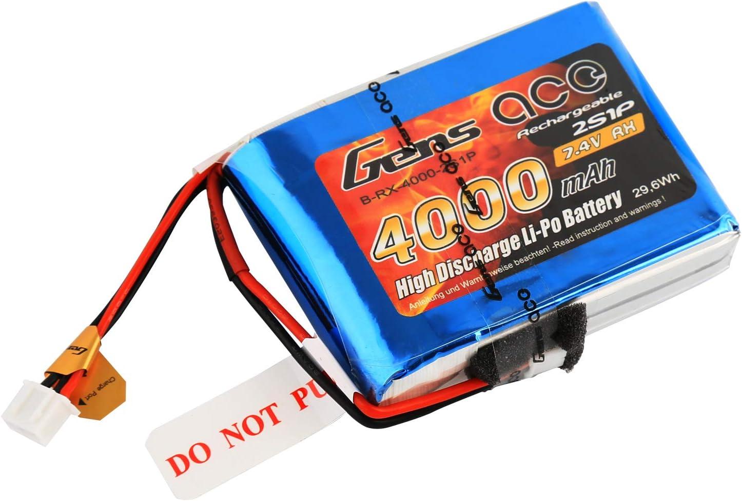 Gens ace B-RX-4000-2S1P accesorio de mandos a distancia - Accesorios de mandos a distancia (Batería, Multicolor, Polímero de litio, 4000 mAh, 7,4 V, ...