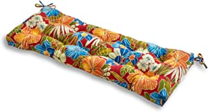 Greendale Home Fashions 51-Inch Indoor/Outdoor Bench Cushion, Aloha Floral Red with More Exciting Give-aways