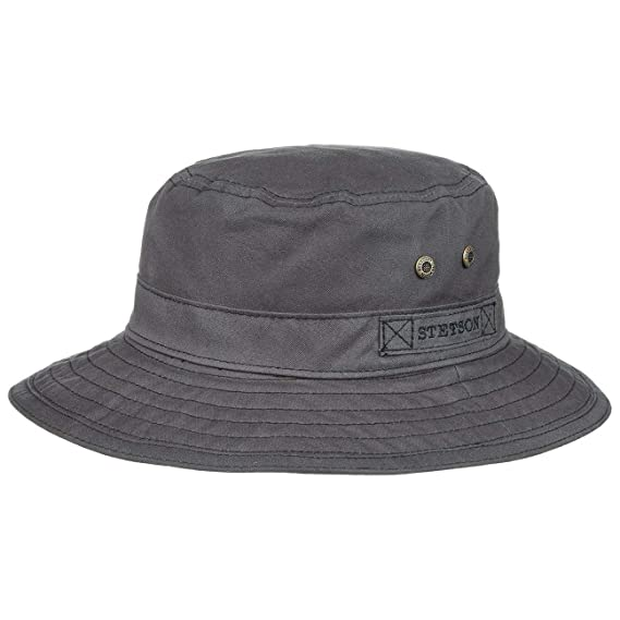 Stetson Atkins Waxed Cotton Bucket Hat crushable oilskin  Amazon.co ... cf52b4f96a7