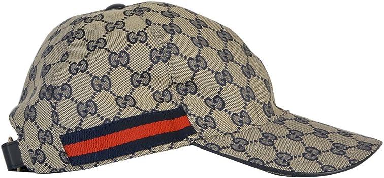 Gucci Hombre 200035KQW6G4080 Azul/Marrón Poliéster Sombrero ...