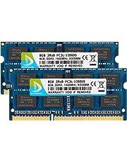 DUOMEIQI 16GB Kit (2 x 8GB) DDR3L / DDR3 1600MHz SODIMM PC3L / PC3-12800 2Rx8 1.35V /1.5V CL11 204 Pin Non-ECC Unbuffered Laptop Memory Notebook Ram Module for Mac, Intel and AMD System