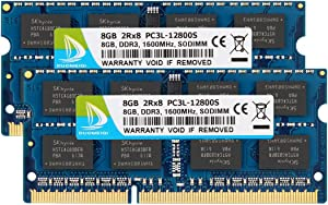 DUOMEIQI 16GB Kit (2 x 8GB) DDR3L / DDR3 1600MHz SODIMM RAM PC3L / PC3-12800 2Rx8 1.35V /1.5V CL11 204 Pin Non-ECC Unbuffered Laptop Memory Notebook RAM Module for Mac, Intel and AMD System