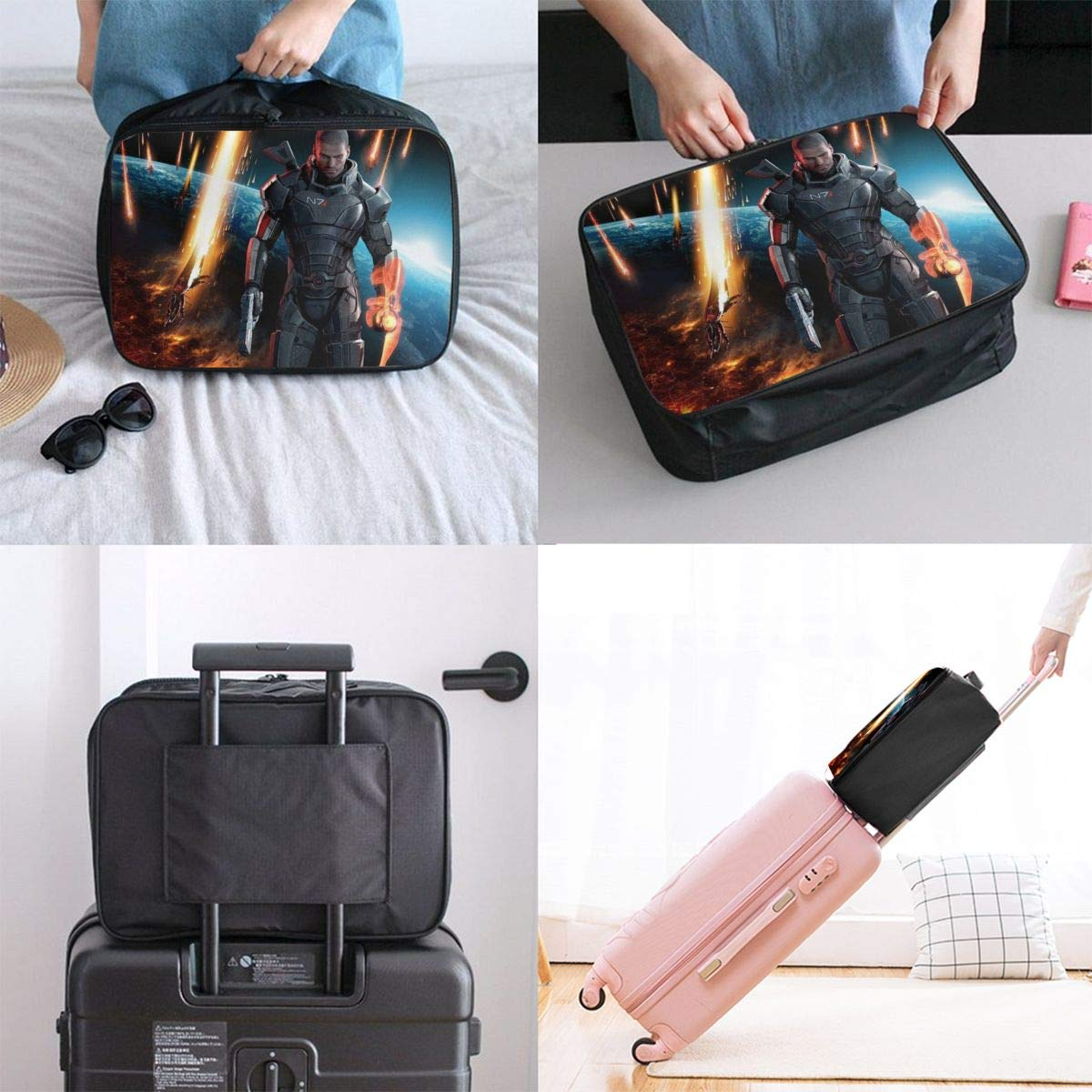 One N7 Muscle Warriors Customize Casual Portable Travel Bag Suitcase Storage Bag Luggage Packing Tote Bag Trolley Bag