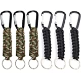 Set of 5 Braided Lanyard Utility Ring Hook TIMGOU Paracord Keychain with Carabiner