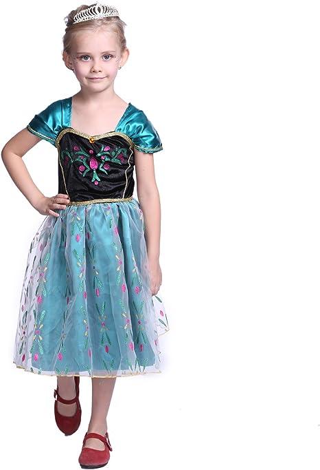 Anladia - Disfraz de Anna Frozen Coronación deluxe para niña Talla ...