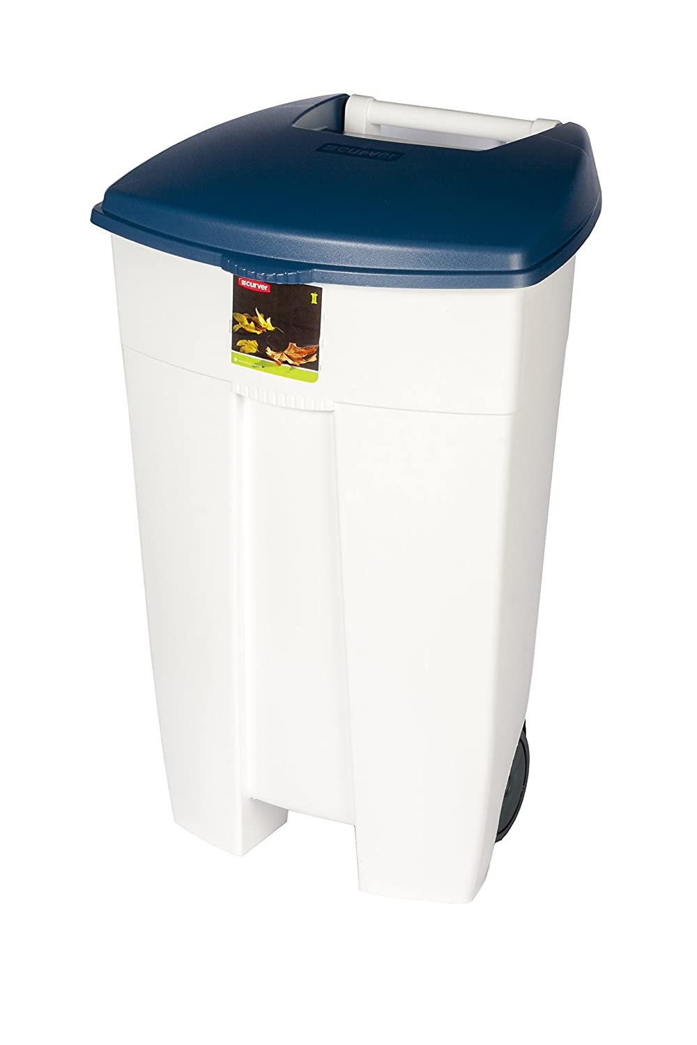 Rubbermaid Commercial Eco Step On Bin - White/Blue R050035