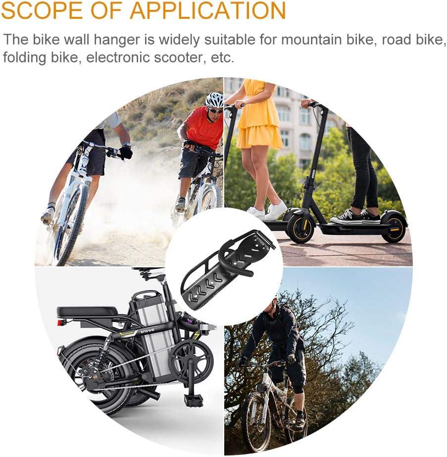 1 Pieza Estante para Bicicletas Montado en la Pared Ahorro de Espacio Almacenamiento de Bicicletas Ganchos Colgantes para Garaje Interior o Exterior BIOBEY Soporte de Pared para Bicicleta