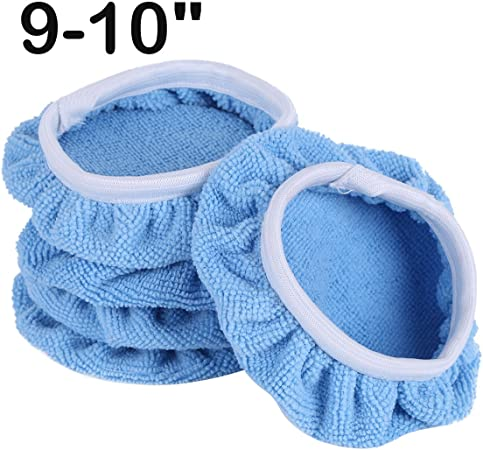 "10Pcs 7-8/"" 5-6/"" Plush Car Soft Polishing Waxing Polisher Bonnet Buffing Pad"