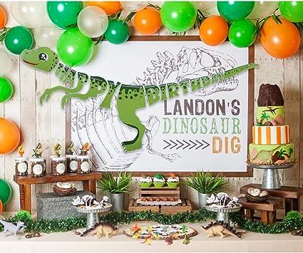 Amazon.com: 36 unidades de dinosaurios decoraciones de ...