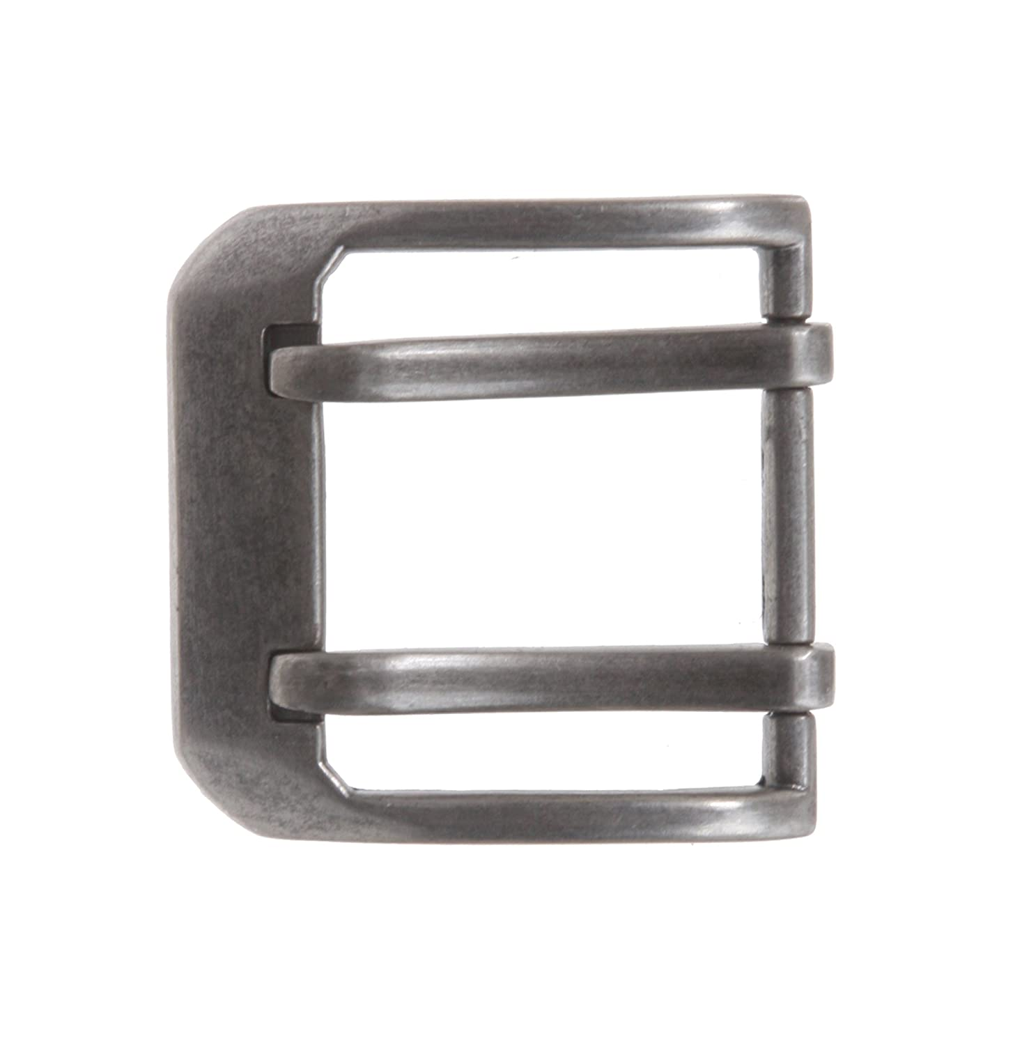 1 1/2 (38 mm) Double Prong Square Belt Buckle, Antique Silver Beltiscool 500250:A00E