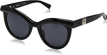 Max Mara Womens Mm Grace Polarized Rectangular Sunglasses BLACK 51 mm
