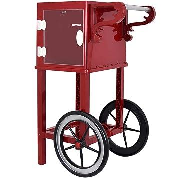 Syntrox Germany – Carrito para Popcorn Maker estructura carro para palomitas popcorn maker con dos Neumáticos