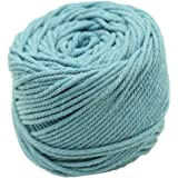 Hubei 3 mm 328 Feet 3 Ply Natural Cotton Macrame Rope Cord Twisted Cord Macrame Supplies 3mm For Macrame Wall Hanging Plant Hanger Craft Making Knitting (Lake Blue)