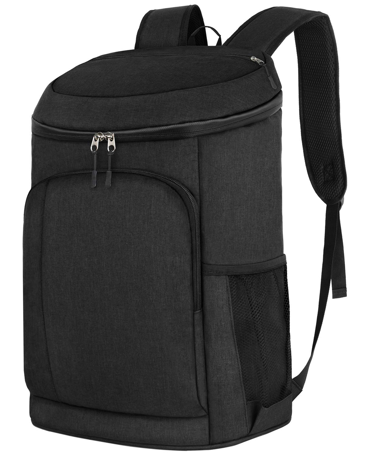 Deegotech Insulated Cooler Backpack, Soft Leakproof Lunch Backpack for Men Womem, 30 Cans Backpack Cooler Bag for Beach Hiking Camping Travel Picnic, Black