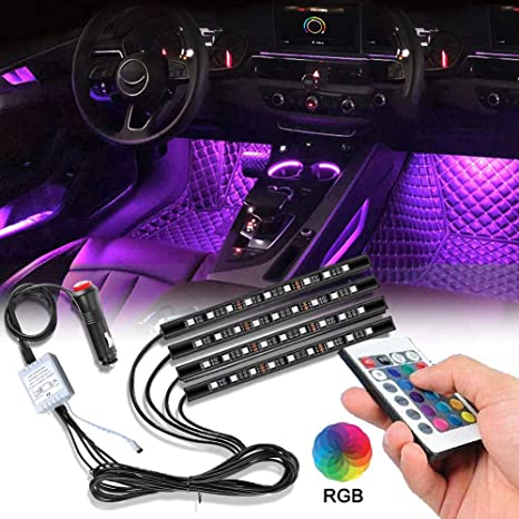 Led Lights For Cars >> Sunva Led Strip Lights For Cars Car Led Strip Lights Universal Under Dash Lighting Kit For All Vehicles Parties Outdoor 16 Colors