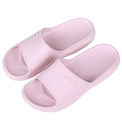 Litfun Women Indoor Non-Slip House Shower Slippers Summer Home Bathroom  Open Toe Slide Sandals 509eda068