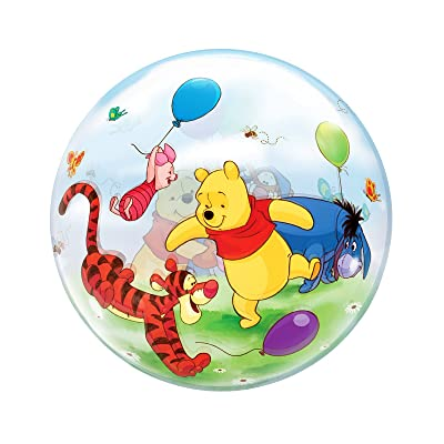 Qualatex Winnie The Pooh & Friends see-through Bubble Balloon 22-Inches (1-Unit): Toys & Games