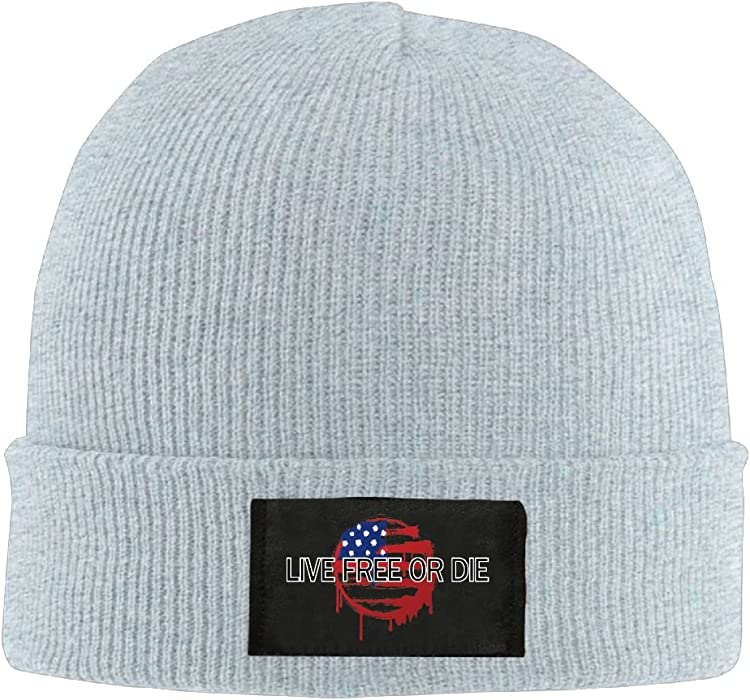 Beanie Hat Live Free Or Die Cool Winter Knitting Wool Warm Caps at Amazon  Men s Clothing store  e44b246df53