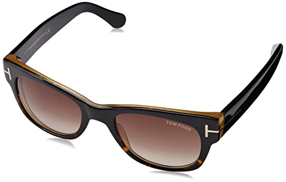 1b47a83aa1d2 Image Unavailable. Image not available for. Color  Tom Ford Sunglasses FT  0058 Cary 182 Shiny Dark Havana ...