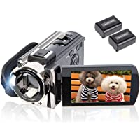 Video Camera Camcorder Digital YouTube Vlogging Camera Recorder kicteck Full HD 1080P 15FPS 24MP 3.0 Inch 270 Degree…