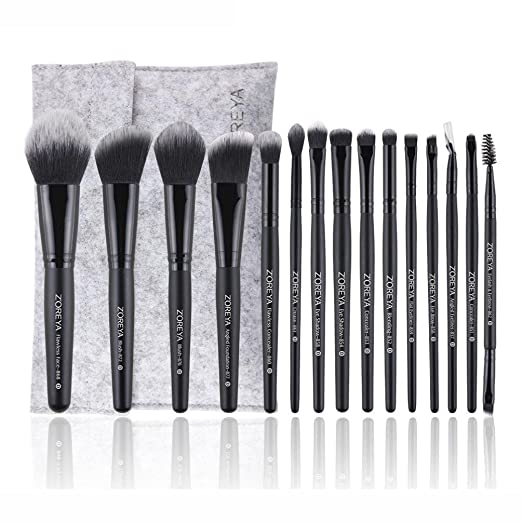 Amazon.com: Celendi_ Brocha de maquillaje ZOREYA 15 piezas ...