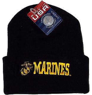 U S  Marine Corps Knit Cap (Watch Cap), Black, OS at Amazon Men's