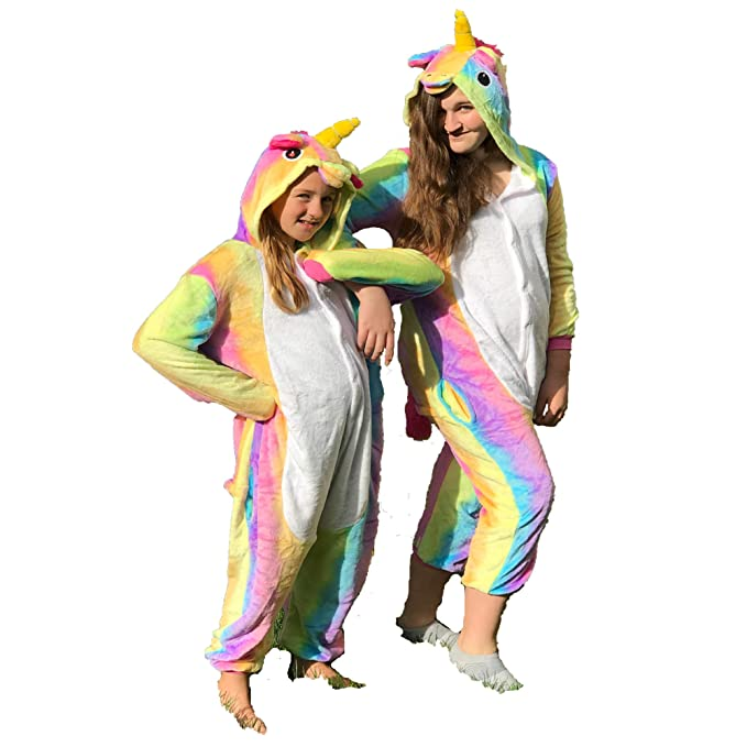 72b9dc970576 Amazon.com  Unicorn Pajamas   Costume for Kids Sizes 7 8-14 16 ...