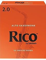 Rico by D'Addario Alto Sax Reeds, Strength 2.0, 10-pack - RJA1020