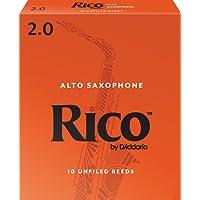 Rico 2.0 Strength Reeds for Alto Sax (Pack of 10)