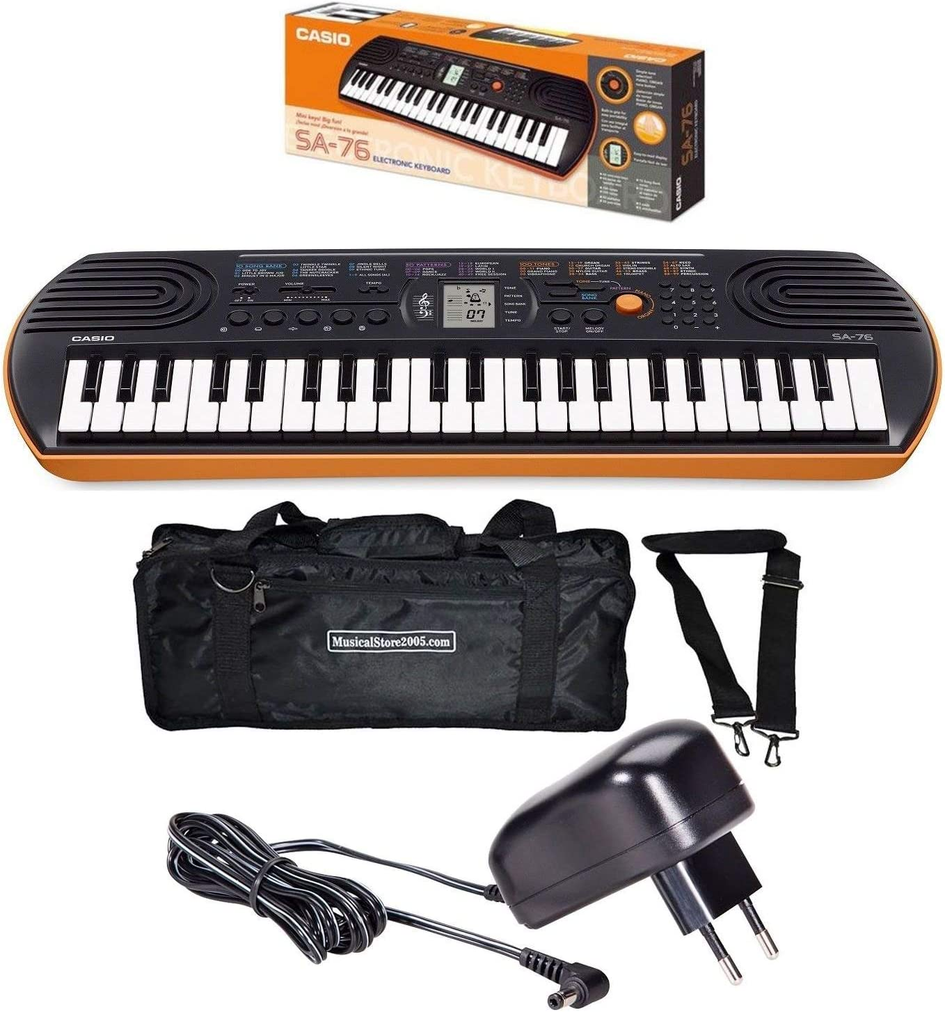 Casio Juego SA76 44 teclas Mini teclado/Minibag/Cargador ...