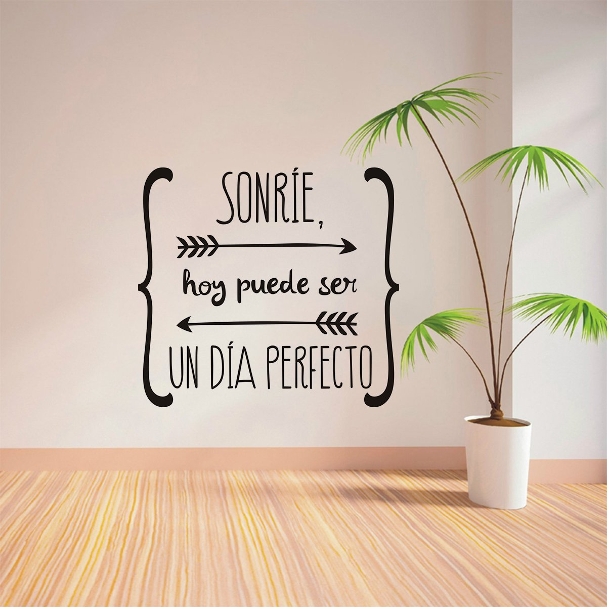 Amazon.com: Spanish Wall Sticker Sonríe Hoy Puede Ser Un Dia Perfecto: Home & Kitchen