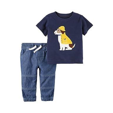Carters Baby Boys Rainy Dog - Juego de té y chándal para bebé (2 ...