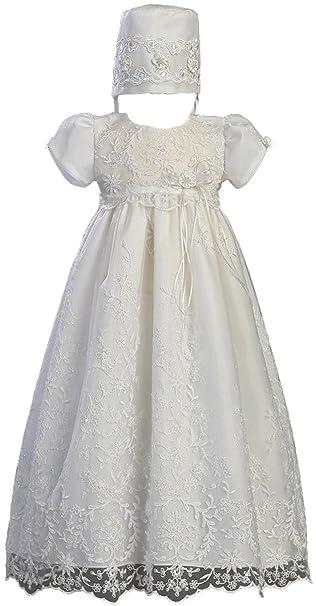 abwedding satén ocasión Baby Girl Infant Pageant bautizo vestidos de 3 a 24 Meses