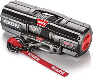 "WARN 101140 AXON 45-S Powersports Winch with Spydura Synthetic Cable Rope: 1/4"" Diameter x 50' Length, 2.25 Ton (4,500 lb) Lifting/Pulling Capacity"
