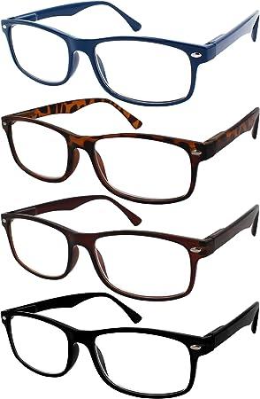 TBOC Gafas de Lectura Presbicia Vista Cansada - (Pack 4 Unidades ...