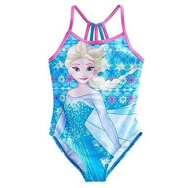 c4d8ada9ad345 Amazon.com: Disney Frozen Girls Swimwear Swimsuit (Baby/Toddler/Little Kid/Big  Kid): Clothing