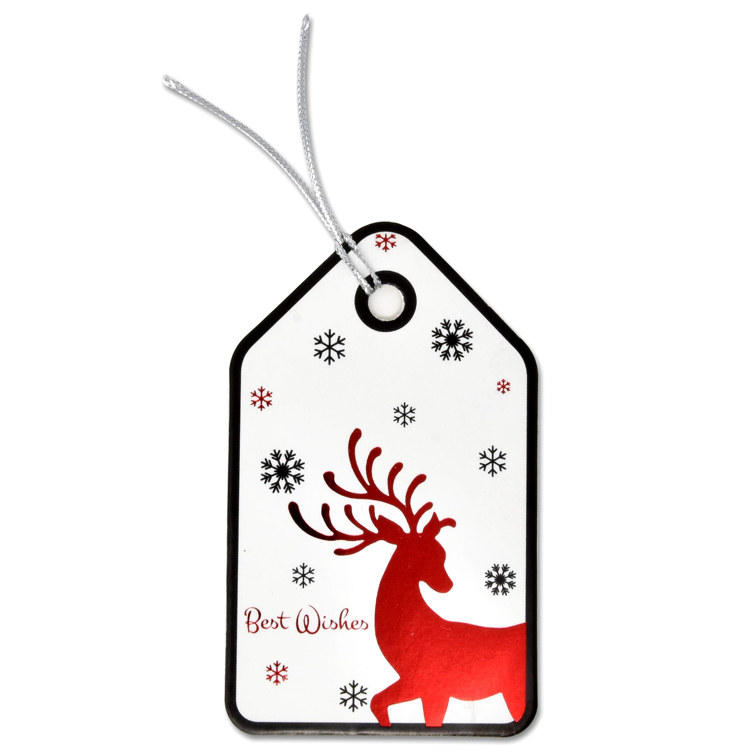 Personalized Christmas Gift Tags: 120 Christmas Gift Tags With Ribbon Tie Strings