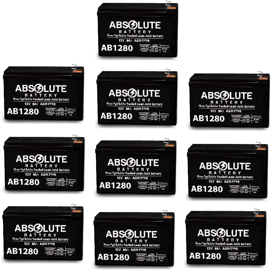 BR24BP UPS Battery 10 Pack F1 12V 8AH APC BackUPS RS XS Battery Pack