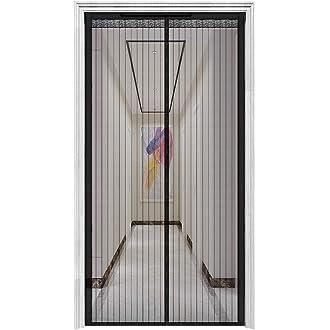 Cortina Mosquitera Magn/ética Para Puertas|Malla De Fibra Impenetrable S/úper Resistente El Tama/ño Se Puede Personalizar Blanco Y Negro