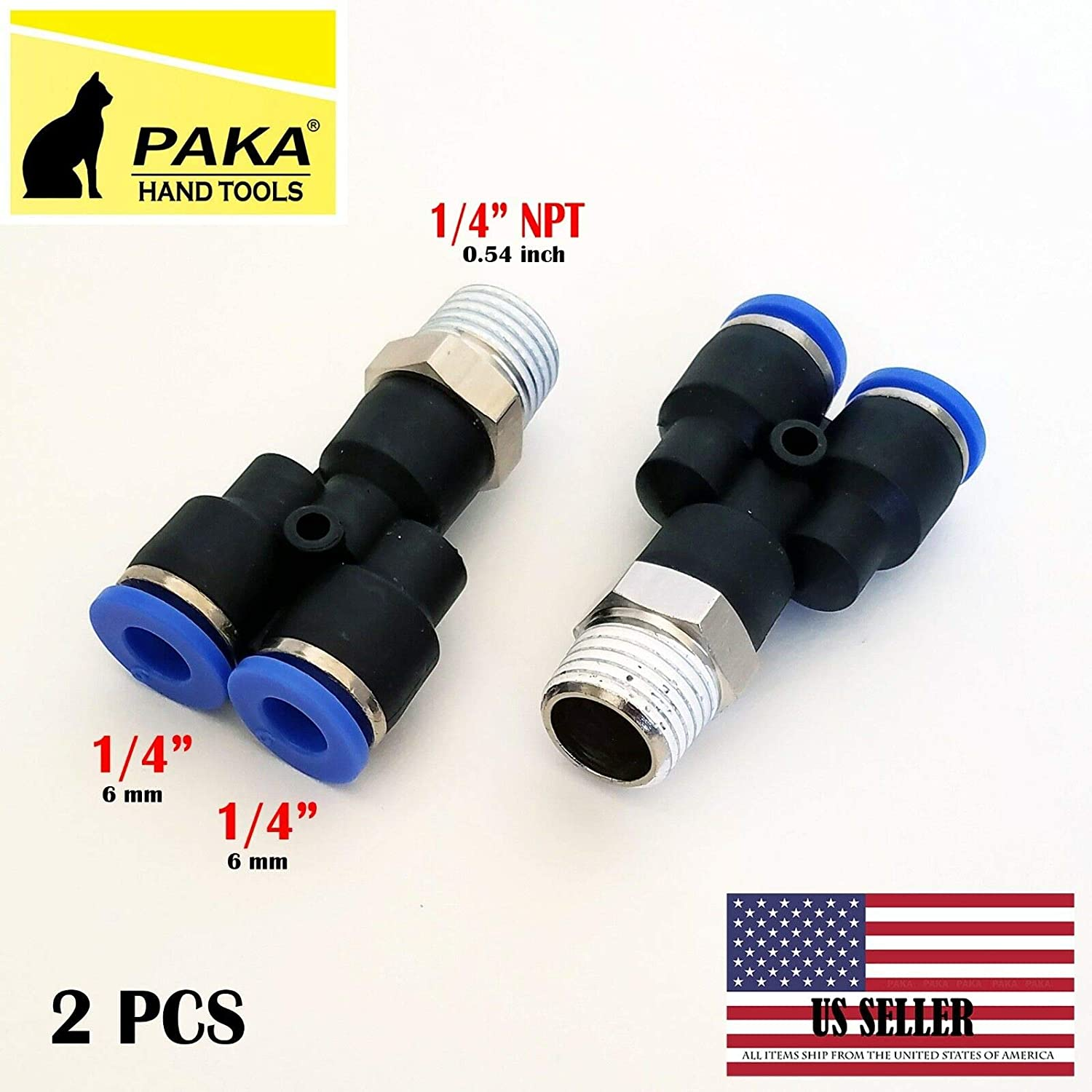 """25x TEMCo Pneumatic Air Quick Push to Connect Fitting 1//8/"""" NPT to 1//2/"""" Hose OD"""