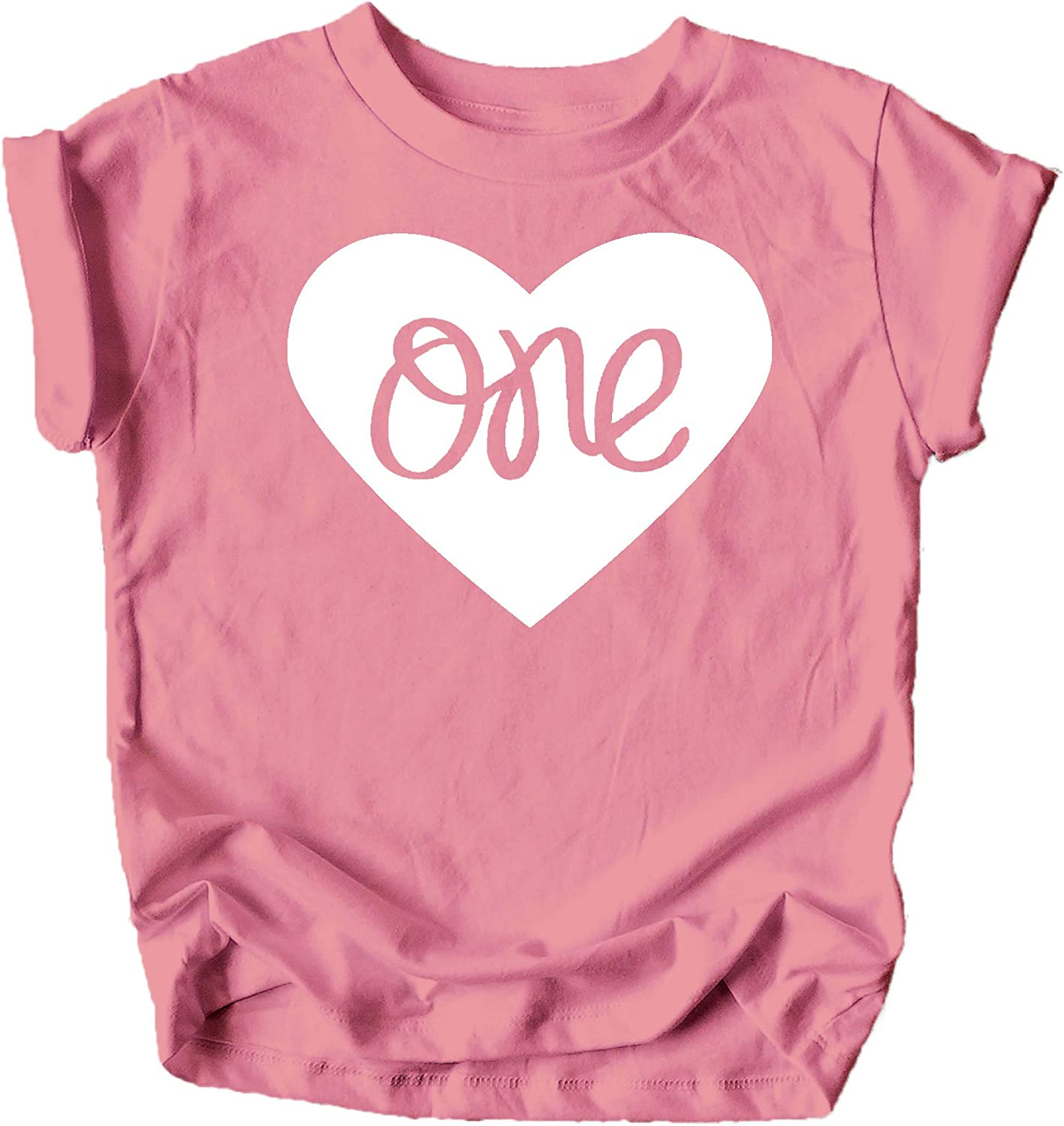 One in Heart 1st Birthday Shirt for Baby Girls First Birthday Outfit