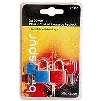 Blackspur BB-PD130 Plastic Coated Luggage Padlock Set