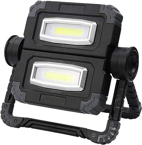 JohnJohnsen Luz de Trabajo COB Recargable USB port/átil con l/ápiz magn/ético Antorcha de Trabajo LED Reparaci/ón de Linterna de Emergencia L/ámpara de Trabajo Rojo