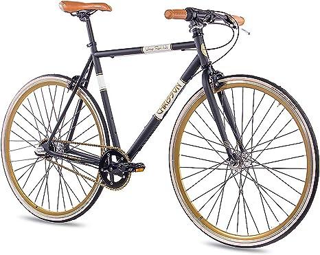 CHRISSON - Bicicleta de Carreras de 28 Pulgadas, Retro, Vintage, Road N3, con Cambio de buje Shimano Nexus de 3 Marchas, Urban Old School, para Hombre y Mujer, tamaño 56 cm, tamaño