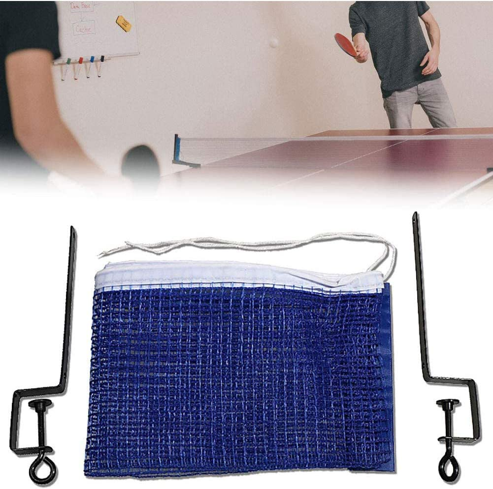 Portable Ping Pong Net Durable Replacement Table Tennis Net And Posts Table Tennis Accessories Blue 1 Set