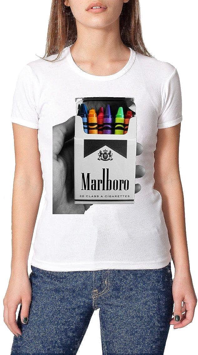 4f8049fc Marlboro Cigarettes Crayon Pack - XX-Large Womens T-Shirt: Amazon.co.uk:  Clothing