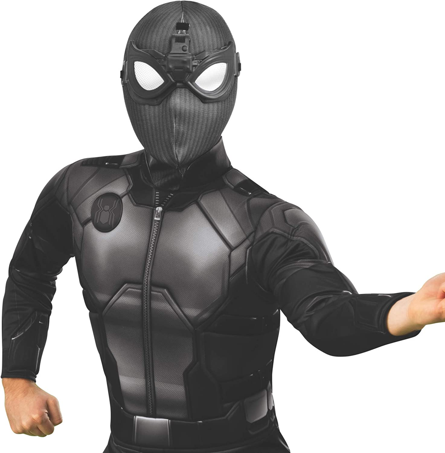 Rubie's Men's Marvel: Spider-Man Far from Home Deluxe Fabric Stealth Mask, As Shown, One Size