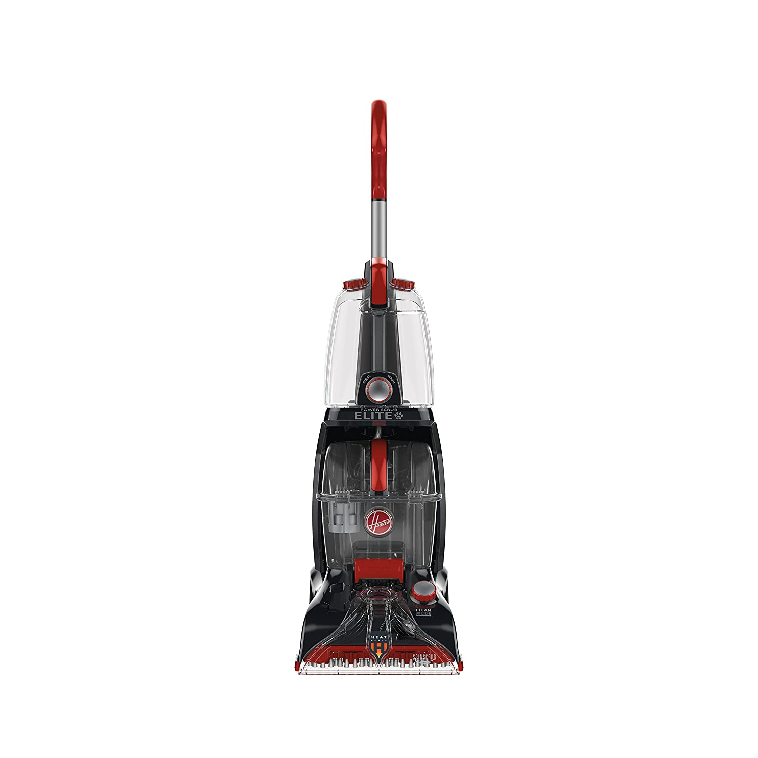 Hoover Power Scrub Deluxe Carpet Washer, FH50150 + Hoover Clean Plus 2X 64-Ounce Carpet Cleaner and Deodorizer, Red